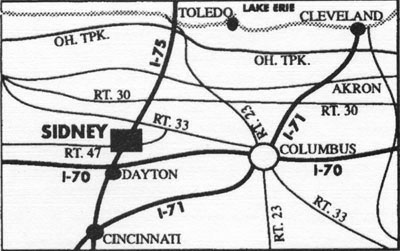 Map And Directions Sidney Ohio Bed And Breakfast Greatstone Castle